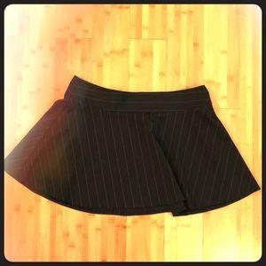 Full flare Bissou Bissou pin-striped skirt